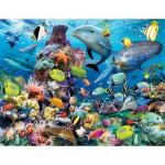 Puzzle  Ravensburger-16682 Unterwasserleben