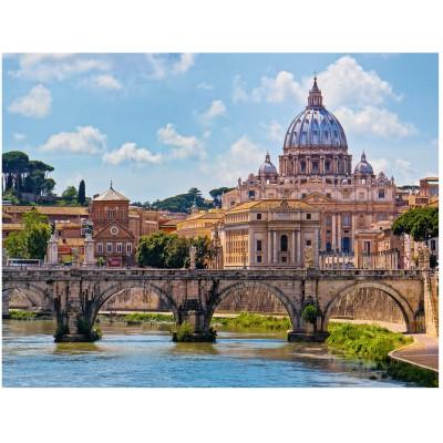 Puzzle Ravensburger-16686 Engelsbrücke in Rom