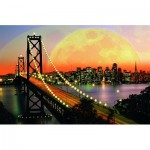 Puzzle  Ravensburger-17039 San Francisco bei Nacht