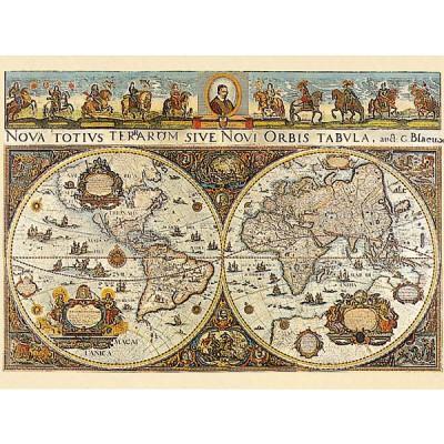 Puzzle Ravensburger-17054 Weltkarte 1665