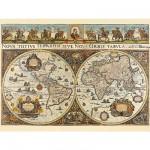 Puzzle  Ravensburger-17054 Blaeuw: Weltkarte aus dem Jahr 1665