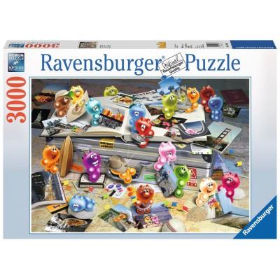 Puzzle Ravensburger-17064 Gelini auf Reisen