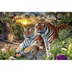 Puzzle  Ravensburger-17072 Versteckte Tiger
