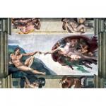 Puzzle  Ravensburger-17408 Michelangelo: Die Erschaffung Adams
