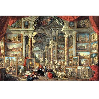 Puzzle Ravensburger-17409 Vues de la rome moderne