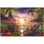 Puzzle  Ravensburger-17824 Paradiesischer Sonnenuntergang