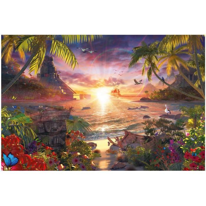 Paradiesischer Sonnenuntergang