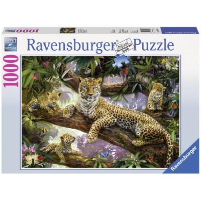 Puzzle Ravensburger-19148 Stolze Leopardenmutter