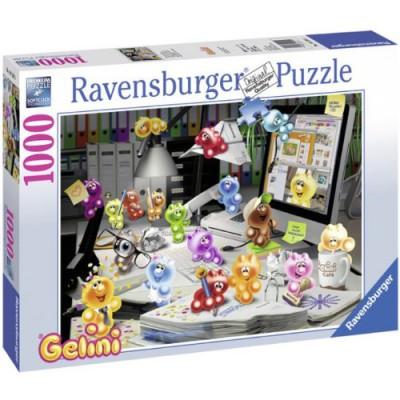 Puzzle Ravensburger-19150 Nachts im Büro