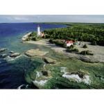 Puzzle  Ravensburger-19152 Kanada: Leuchtturm, Bruce Peninsula