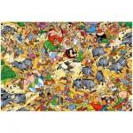 Puzzle  Ravensburger-19163 Asterix: Wildschweinjagd