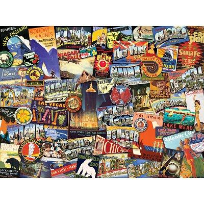 Puzzle Ravensburger-19212 Road Trip USA
