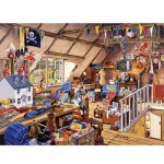 Puzzle  Ravensburger-19272 Der Dachboden der Großmutter