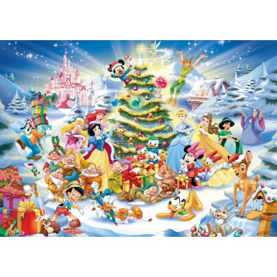 Puzzle Ravensburger-19287 Weihnachten mit Disney