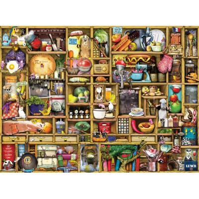 Puzzle Ravensburger-19298 Colin Thompson: Kurioses Küchenregal