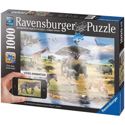Ravensburger-19305 Augmented Reality Puzzle - Die Tiere Afrikas
