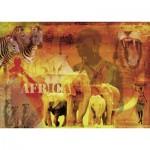 Puzzle  Ravensburger-19366 Impressionen aus Afrika