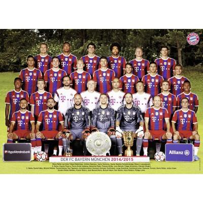 Puzzle Ravensburger-19387 FC Bayern München, Saison 14/15