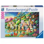Puzzle  Ravensburger-19402 Traumstadt