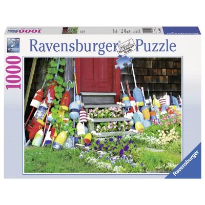 Puzzle Ravensburger-19403 Bojen an der Haustür