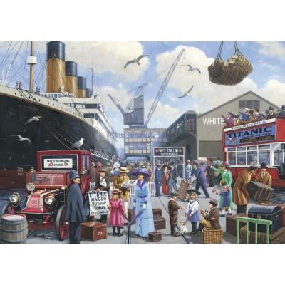 Puzzle Ravensburger-19419 Jungfernfahrt der Titanic