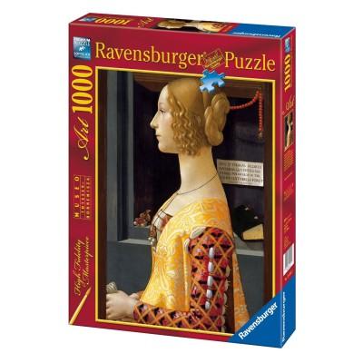 Puzzle Ravensburger-19421 Ghirlandaio: Porträt von Giovanna Tornabuoni