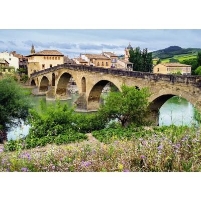 Puzzle Ravensburger-19425 Puente la Reina, Spanien
