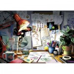 Puzzle  Ravensburger-19432 Disney Pixar - The Artist's Desk
