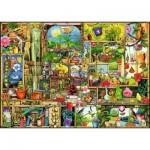 Puzzle  Ravensburger-19482 Colin Thompson: Grandioses Gartenregal