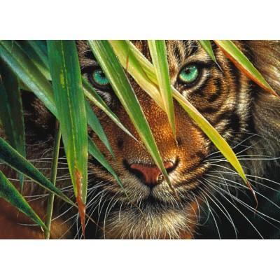 Puzzle Ravensburger-19486 Geheimnisvoller Tiger