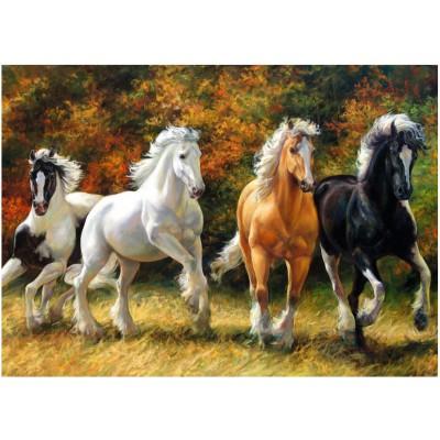 Puzzle Ravensburger-19522 Gallopierende Pferde
