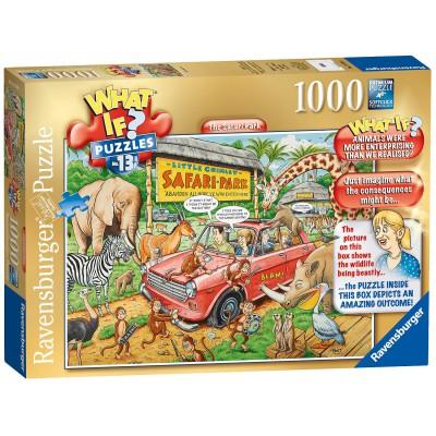 Ravensburger-19550 What If ? Puzzle Nr. 13 - The Safari Park