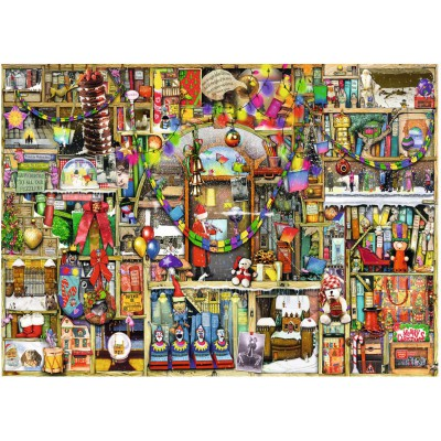 Puzzle Ravensburger-19561 Colin Thompson: The Christmas Cupboard