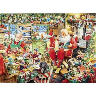 Puzzle Ravensburger-19562 Letzte Weihnachtsvorbereitungen