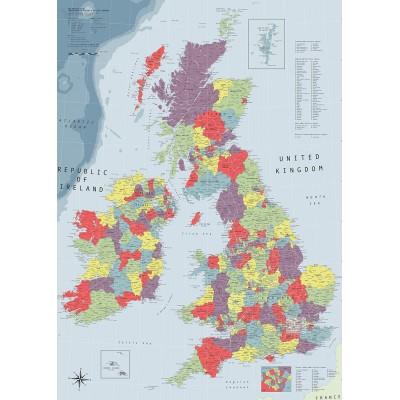 Puzzle Ravensburger-19565 Britische Inseln Karte