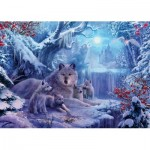 Puzzle  Ravensburger-19596 Winter Wolves