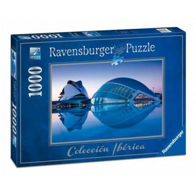 Puzzle Ravensburger-19617 Ciudad de las artes, Valencia
