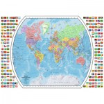 Puzzle  Ravensburger-19633 Politische Weltkarte
