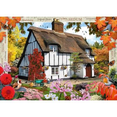 Puzzle Ravensburger-19651 Sedum Cottage