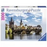 Puzzle  Ravensburger-19742 Blick auf die Karlsbrücke
