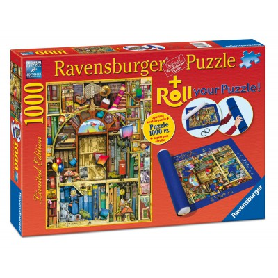 Ravensburger-19909 Colin Thompson: Der Bizarre Buchladen + Puzzlematte