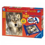 Ravensburger-19911 Puzzlerolle + Puzzle Wolf