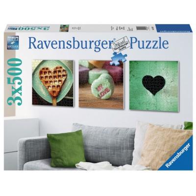 Ravensburger-19921 3 Puzzles - Herzenslust