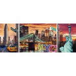 Puzzle  Ravensburger-19995 Schillerndes New York