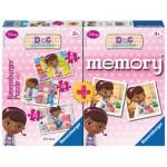 Ravensburger-22288 Doc MacStuffins 3 Puzzles + Memory
