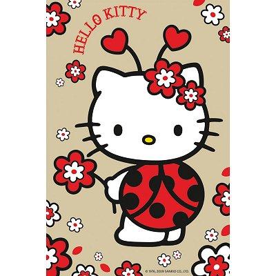 Puzzle Ravensburger-72263-09451-2 Hello Kitty: Marienkäfer