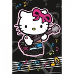 Puzzle  Ravensburger-72263-09451-4 Hello Kitty spielt Gitarre