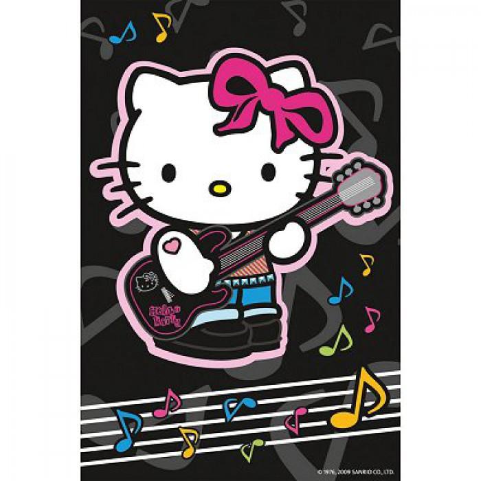 Hello Kitty spielt Gitarre