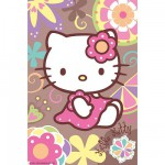 Puzzle  Ravensburger-72263-09451-5 Hello Kitty: In den Blumen
