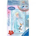 Ravensburger-73055-09455-01 Minipuzzle: Frozen - Die Eiskönigin